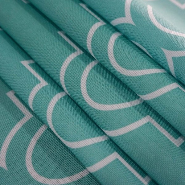 """Rectangle Polyester Fabric Tablecloth Stain Proof 52"""" x 70"""" Teal"""