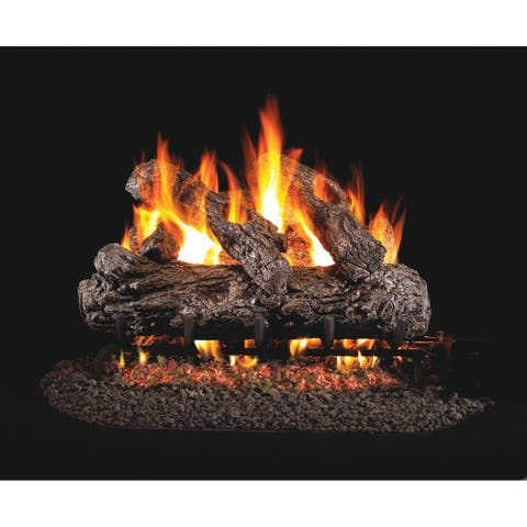 Real Fyre Classic Series Rustic Oak Gas Logs 24 Inch Logs Only