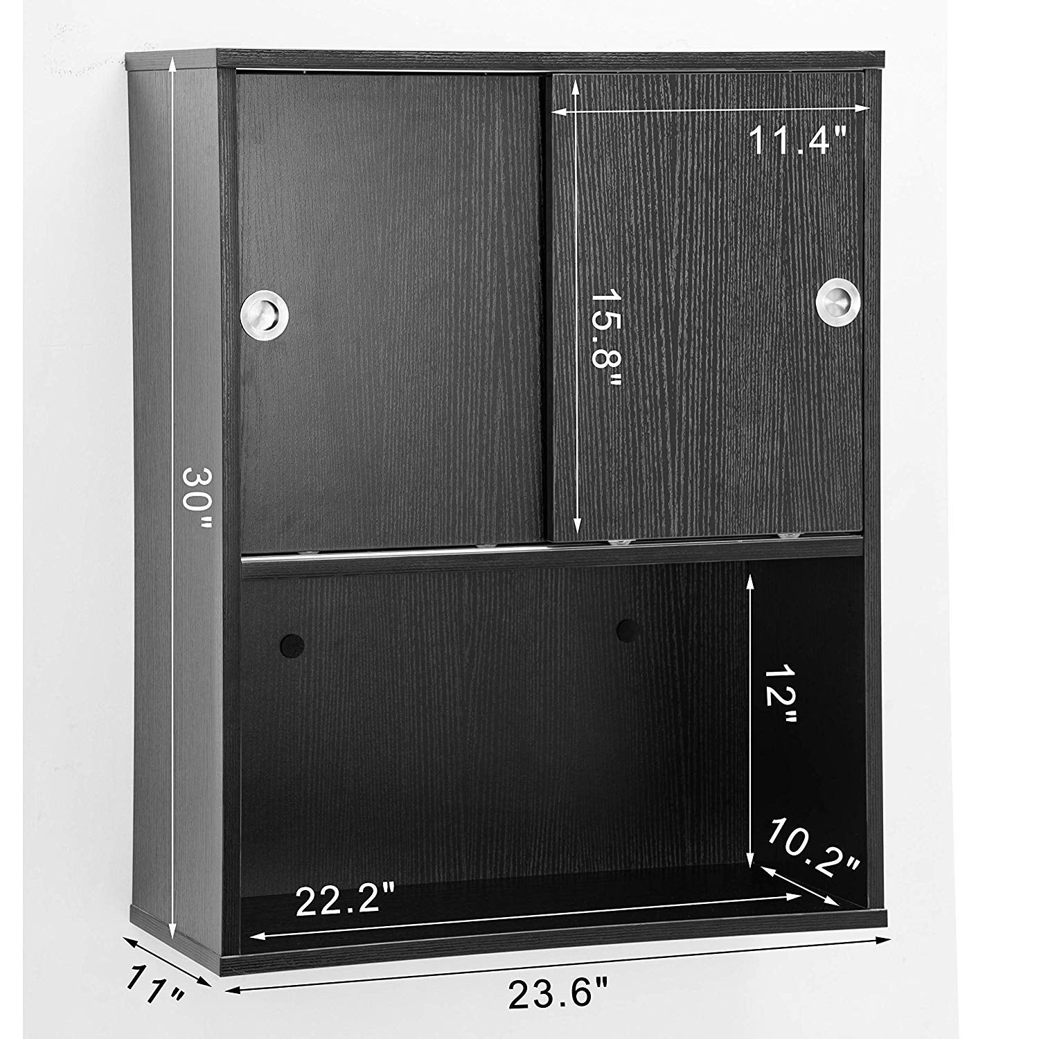 Barberpub Wall Mounted Styling Station Storage Cabinet With Sliding Door Salon Beauty Spa Equipment 7136 Overstock 29874762
