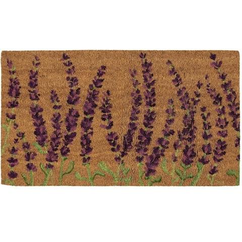 Natural Coir Door Mat - All Season Indoor Outdoor Welcome Doormat, Easy Clean