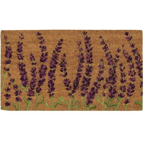 Natural Coir Door Mat - All Season Indoor Outdoor Welcome Doormat, Easy Clean