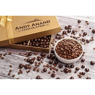 Andy Anand's Vegan Sugar Free Dark Chocolate Espresso Coffee Beans 1 lbs