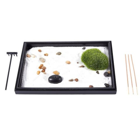 Zen Garden - Sand, Rock, Rake for Relaxation and Meditation, for Zen Gardening