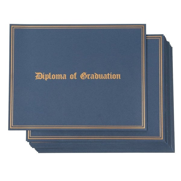 Certificate Holder - 12-Pack Diploma Covers for Graduation Ceremony