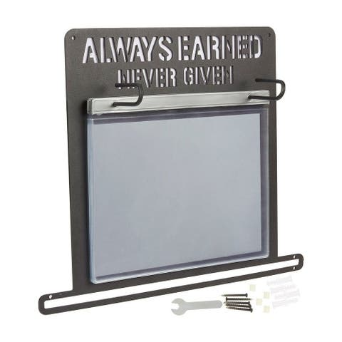 Athletic Medal Photo Display Hanger Race Bib Holder for Runner 11.93x13.03x0.1in