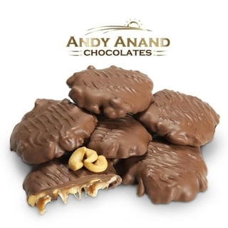 Andy Anand Chocolate Bridge of Pecan, Cashew, Almond, Peanut, Gift Boxed 1lbs & Greeting Card