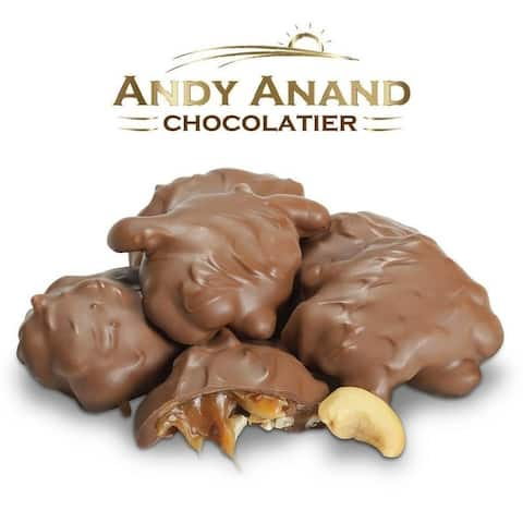 Andy Anand Sugar Free Chocolate Bridge of Pecan, Cashew & Mint Gift Boxed 1lbs & Greeting Card