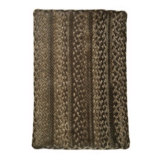Affinity Sepia Vertical Stripe Rectangle Braided Rug - 8' x 11'