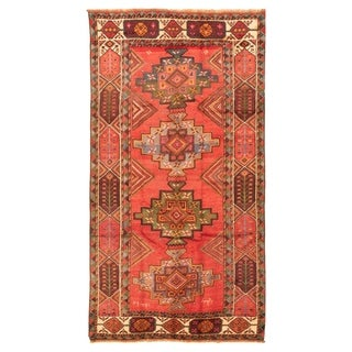 Hand-knotted  Authentic Turkish Copper Wool Rug  ECARPETGALLERY - 5'4 x 9'9