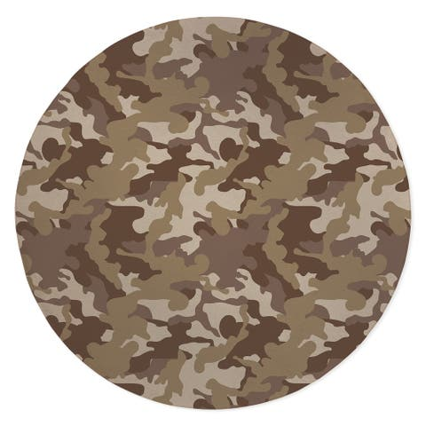 CAMO FLOW BROWN Area Rug by Kavka Designs