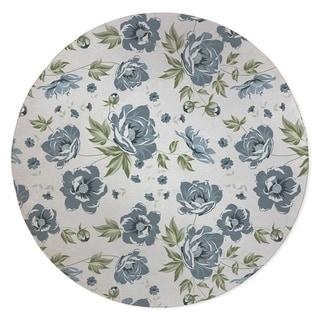 COLETTE BLUE FLOWER Area Rug By Kavka Designs