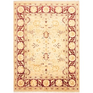 Hand-knotted  Pako Persian 18/20 Ivory Wool Rug  ECARPETGALLERY - 9'1 x 12'5