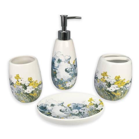 Anna blue 4 pcs bath accessories set - multi size