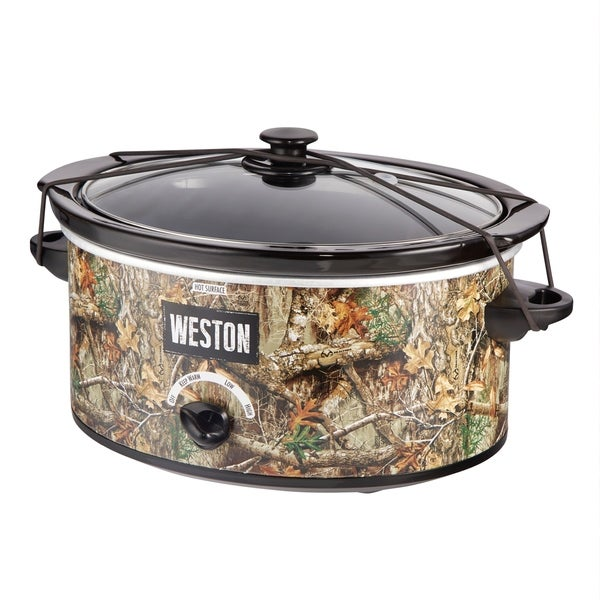 Weston Realtree Edge 5 Quart Portable Slow Cooker. Opens flyout.