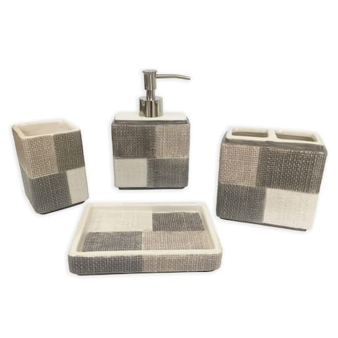 Evans 4 pcs bath accessories set - multi size
