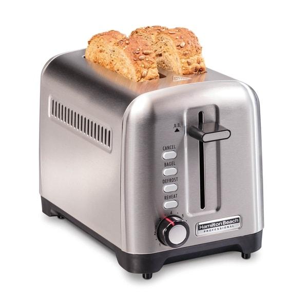Hamilton Beach Professional 2 Slice Toaster. Opens flyout.