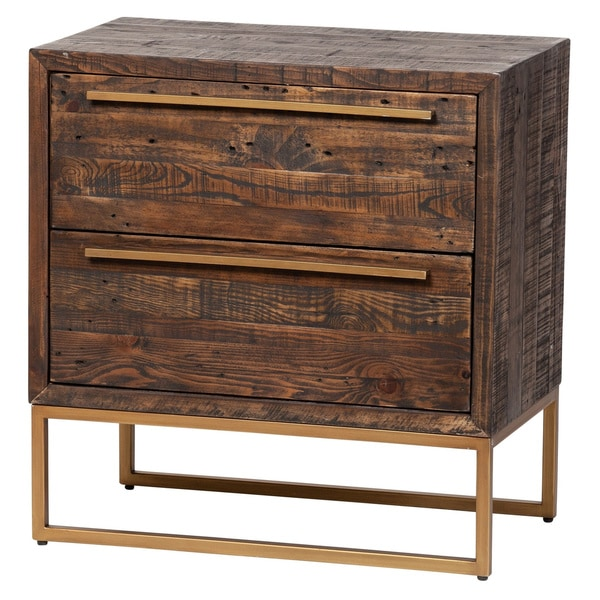 Carbon Loft Shretah Handmade 2-drawer Nightstand
