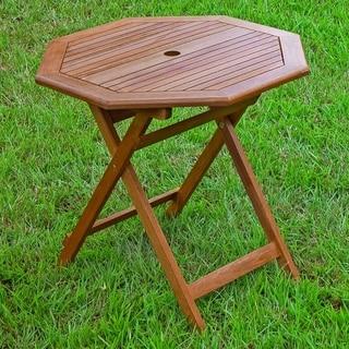 International Caravan Acacia 30-inch Octagonal Folding Table