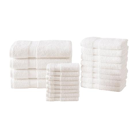 Royal Heritage 20 Piece Soft Egyptian Style 100% Cotton 600 GSM Towel Set