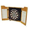 Las Vegas Bristle Dartboard Wood Cabinet Set with Two Sets of Darts
