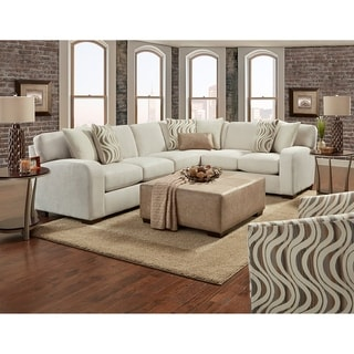 Biscuit Sectional - Pebble