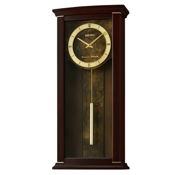 Seiko Elegance & Modern Wall Clock with Pendulum and Chime. Opens flyout.