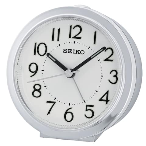 "Seiko 4"" ALARM WITH BEEP ALARM AND SNOOZE, DIAL LIGHT"