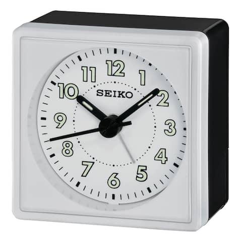 "Seiko 2"" Square, Compact & Light Weight Alarm"