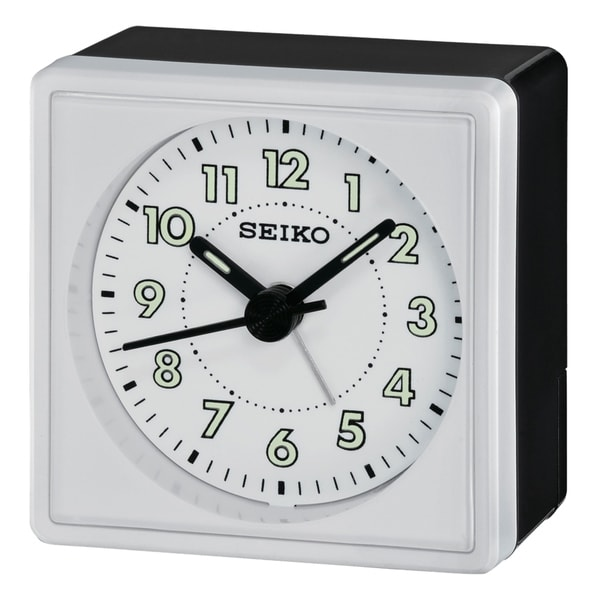"Seiko 2"" Square, Compact & Light Weight Alarm"