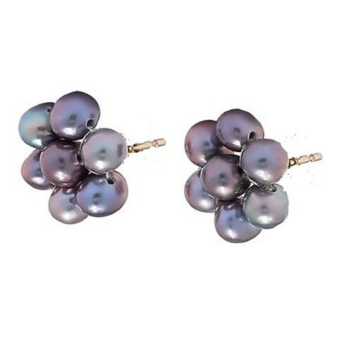 Pearl Lustre Freshwater Pearl Flower Earring
