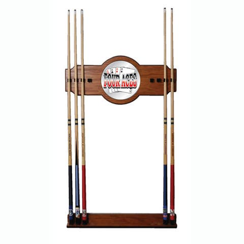 Four Aces Billiard Cue Wall Rack with Mirror
