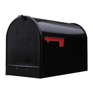 Solar Group ST200B00 Black Jumbo Size Rural Mailbox (As Is Item)