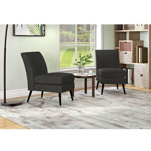 Carson Carrington Abi Mid Century Modern Armless Chairs (Set of 2)