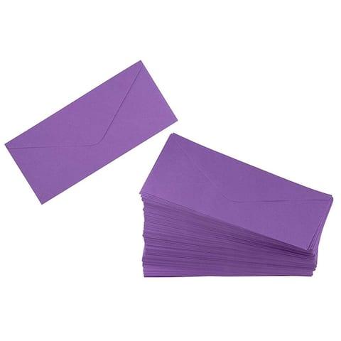 200 #10 V-Flap Windowless Envelopes Gummed Seal 120 GSM, Purple 4-1/8x9-1/2inch