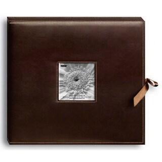 Pioneer Sewn Brown Leatherette Scrapbook Box