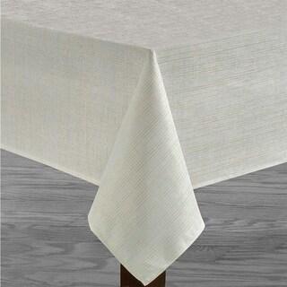 "Polyester Metallic Blend Tablecloth 60"" x 104"" White"