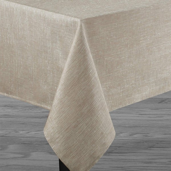 "Polyester Metallic Blend Tablecloth 52"" x 70"" Linen"