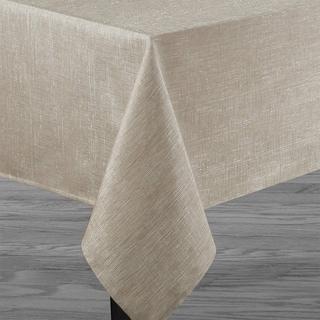 "Polyester Metallic Blend Tablecloth 60"" x 104"" Linen"