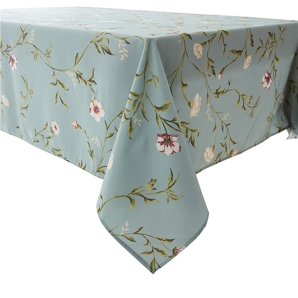 """Polyester Lace Water Resistant Rectangle Tablecloth 60"""" X 84"""" Floral7"""
