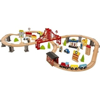 Link to 70pcs Wooden Train Set Learning Toy Kids Children Fun Road - Multicolor Similar Items in Toy Vehicles