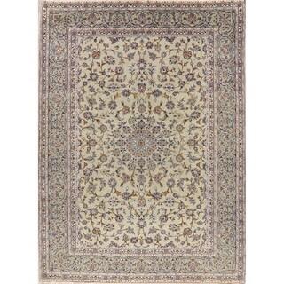 "Kashan Vintage Persian Floral Oriental Area Rug Handmade Green Carpet - 8'5"" x 11'7"""