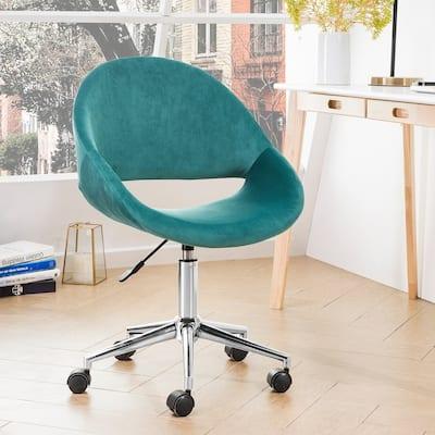 OVIOS Modern Soft Plush Velvet Swivel Office Chair