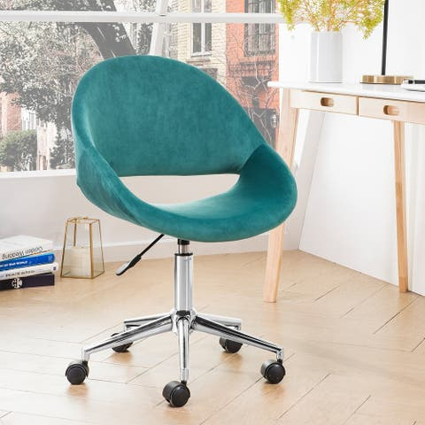 OVIOS Cute Desk Chair Plush Velvet Office Chair for Home or Office,Modern,Comfortble Nice Task Chair for Computer Desk