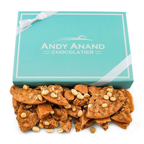 Andy Anand Old Fashioned Handmade Peanut Brittle made with Real Honey, Vegan 1lbs