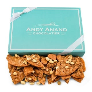 Link to Andy Anand Old Fashioned Handmade Peanut Brittle made with Real Honey, Vegan 1lbs Similar Items in Gourmet Food Baskets