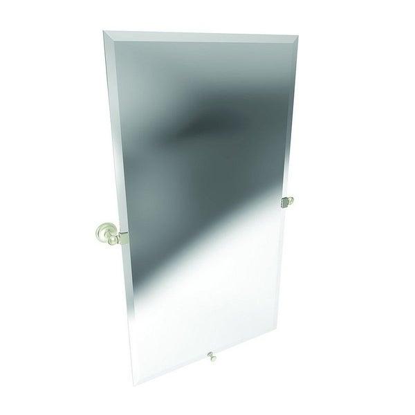 Satin Nickel Large Mirror - Satin Nickel