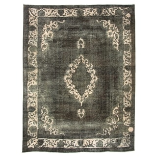 Hand-knotted  Color Transition Black Wool Rug  ECARPETGALLERY - 9'8 x 12'6