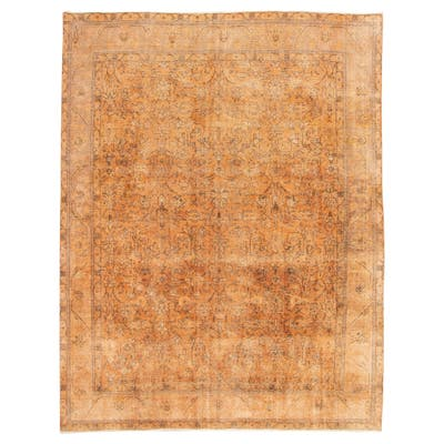 """Hand-knotted Color Transition Orange Wool Rug - 9'8"""" x 12'6"""""""