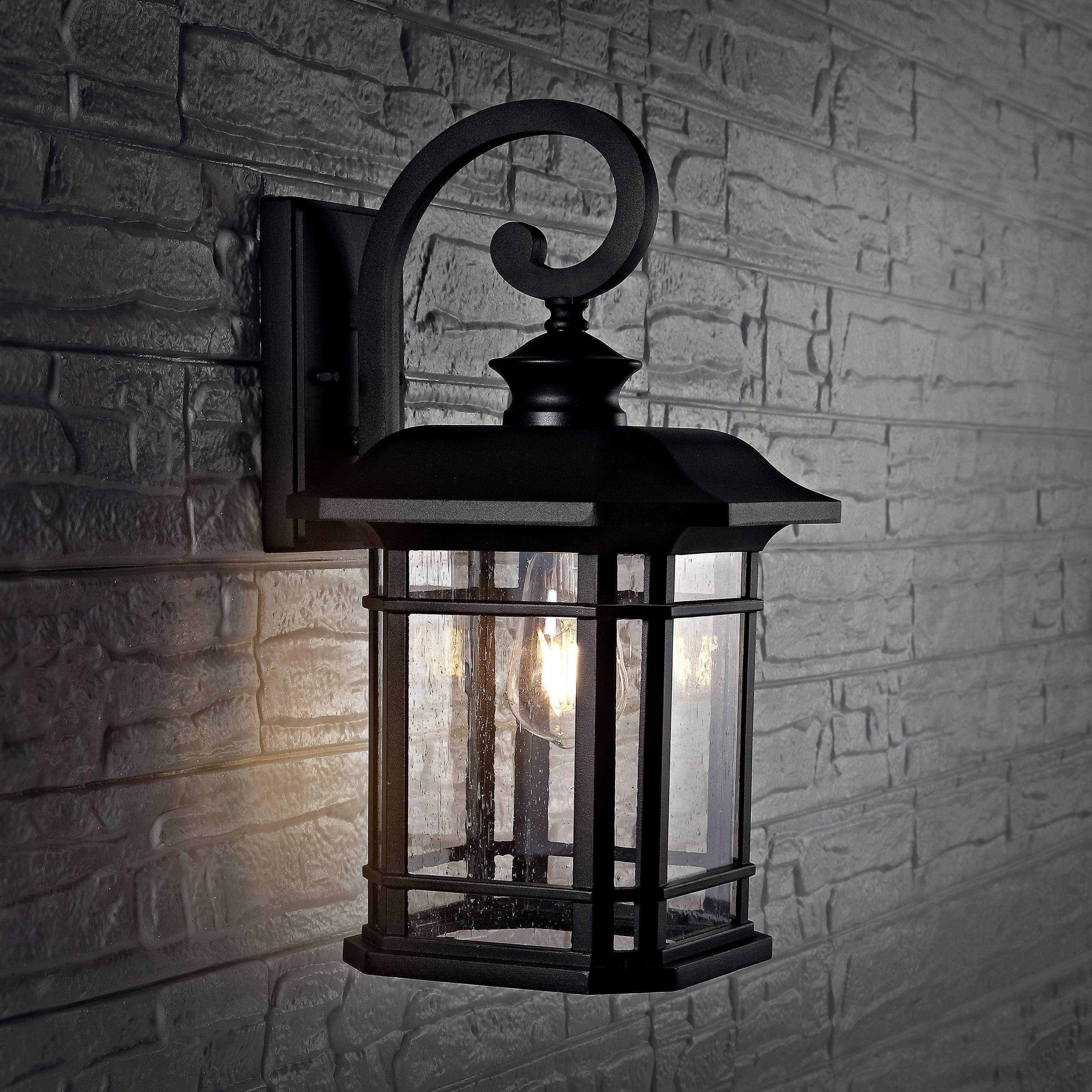 Safavieh Cendra Outdoor Wall Lantern 9 3 X10 3 X17 Overstock 29890242