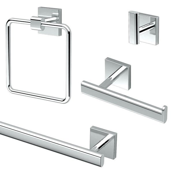 Gatco Elevate 4-Piece Bathroom Accessory Kit. Opens flyout.